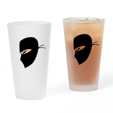 Ninja Face Pint Glass