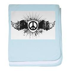 Stylish Peace baby blanket