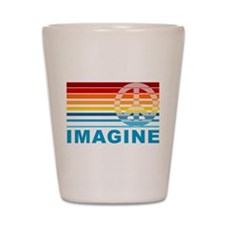 Imagine Peace Shot Glass