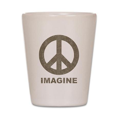 Vintage Imagine Peace Shot Glass