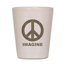 Vintage Imagine Peace Shot Glass