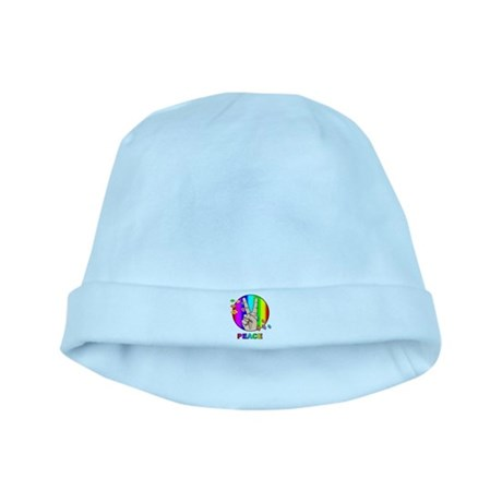 Colorful Peace Symbol baby hat