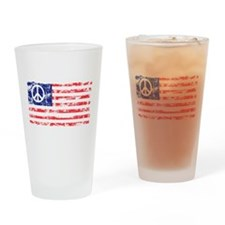 Vintage Peace In America Pint Glass
