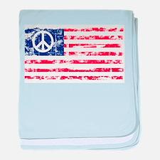 Vintage Peace In America baby blanket
