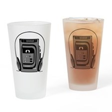 Vintage Tape Player Pint Glass