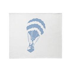 Retro Hot Air Balloon Throw Blanket