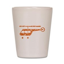 Retro Helicopter Shot Glass
