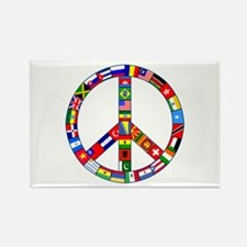 Peace Sign Made of Flag Rectangle Magnet (10 pack)