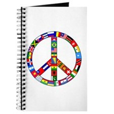 Peace Sign Made of Flags Journal