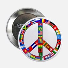 "Peace Sign Made of Flags 2.25"" Button"