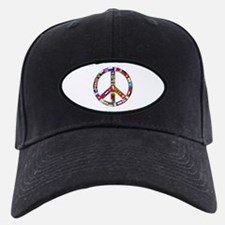Peace Sign Made of Flags Baseball Hat