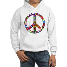 Peace Sign Made of Flags Jumper Hoody