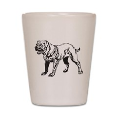 Pit Bull Tattoo Shot Glass