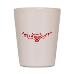 Heart Tattoo Shot Glass