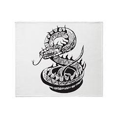 Snake Tattoo Throw Blanket