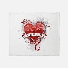 Heart Vegan Throw Blanket