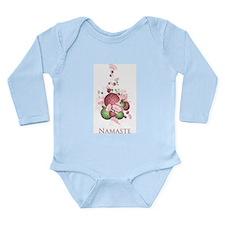 Yoga Lotus Namaste Long Sleeve Infant Bodysuit