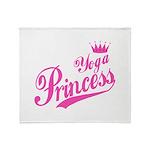 Yoga Princess Throw Blanket