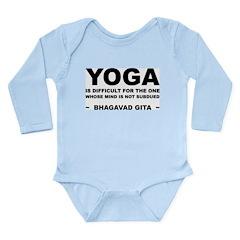 Yoga Quote Long Sleeve Infant Bodysuit
