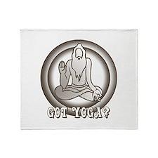 Retro Yoga Throw Blanket