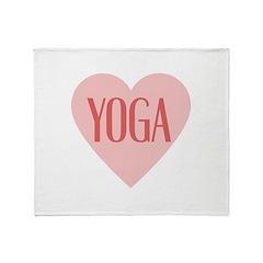 Love Yoga Throw Blanket