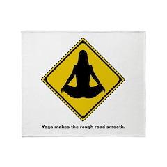 Yoga Quote Throw Blanket