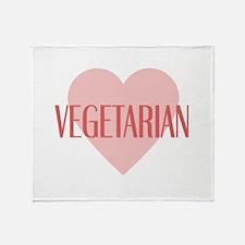 Love Vegetarian Throw Blanket