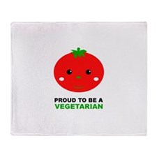 Proud To Be A Vegetarian Throw Blanket