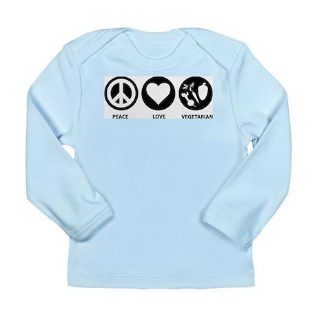 Peace Love Vegetarian Long Sleeve Infant T-Shirt