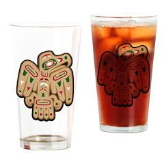 Tribal Falcon Pint Glass