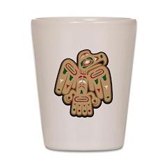 Tribal Falcon Shot Glass