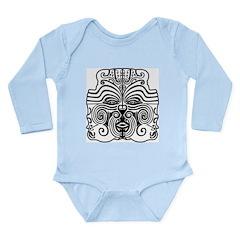 Tribal Mask Long Sleeve Infant Bodysuit