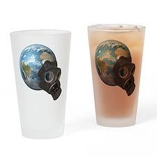 Gas Mask Earth Pint Glass
