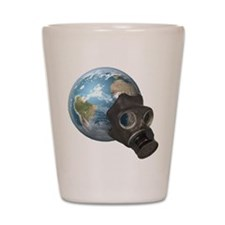 Gas Mask Earth Shot Glass