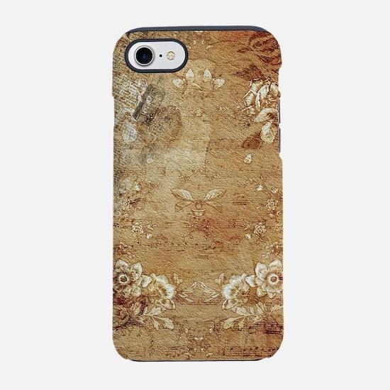 Antique Vintage Floral Decorat iPhone 7 Tough Case