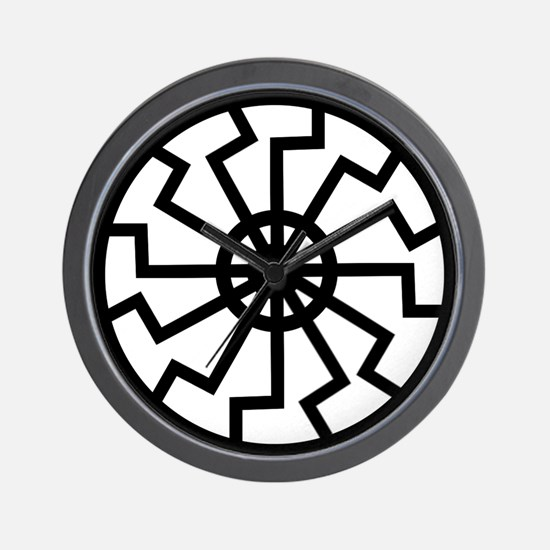 Black Sun Emblem Wall Clock