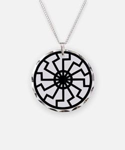 Black Sun Emblem Necklace