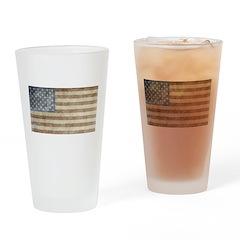 Vintage USA Flag Pint Glass