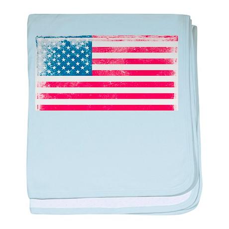 Vintage USA Flag baby blanket