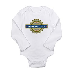 Authentic American People Long Sleeve Infant Bodys