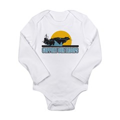 Support Our Troops Long Sleeve Infant Bodysuit