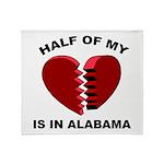 Heart In Alabama Throw Blanket