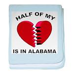 Heart In Alabama baby blanket