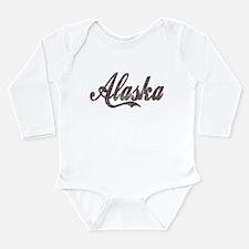 Vintage Alaska Long Sleeve Infant Bodysuit