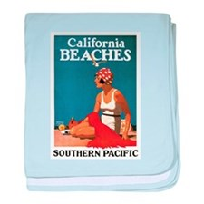 Logan California Beaches baby blanket