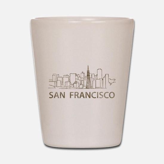 Vintage San Francisco Shot Glass