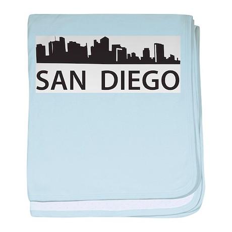 San Diego Skyline baby blanket
