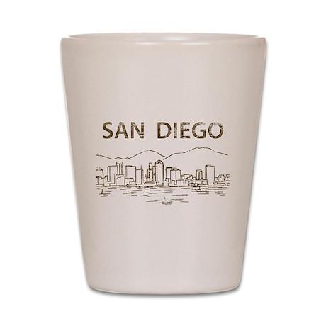 Vintage San Diego Shot Glass