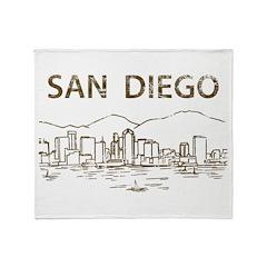 Vintage San Diego Throw Blanket