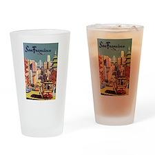 Vintage San Francisco Drinking Glass